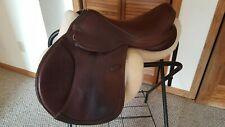 """17"""" M. Toulouse Platinum close contact jumping saddle - wide tree"""