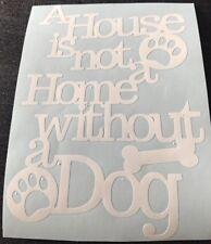 House Home Dog Plaque Sticker Vinyl Car Cupboard Pet Silhouette Crafts