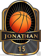 Customized Basketball Vinyl Decal-5 inches