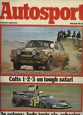AUTOSPORT 29th APRILE 1976 * SAFARI RALLY & di Zolder F 3 *