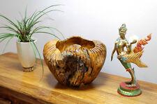 teck bois de Racine Bol Décoratif récipient noble massif Maison campagne