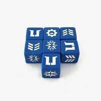 Lot of 7 Star Wars Galactic Battle Game Dice Die Blue w/white Symbols