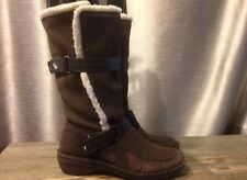 Sierrawest Boulder Boot Distressed Leather Pull On Brown Size 8.5