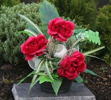 Grabgesteck Gesteck Herz Rose Blumengesteck Allerheiligen Urnengesteck Steinguss