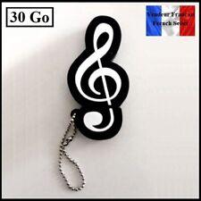 1 Clé USB 2.0 NEUVE 30Go ( USB Flash Drive 30Gb ) - Clef de Sol Musique Music