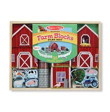 Melissa and Doug Farm Blocks Wooden Play Set - NEW!