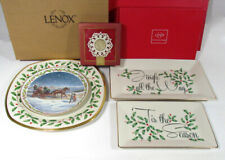Lot 3 Lenox Holiday Platters + Snow Lights + Collector'S Plate
