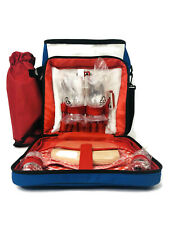 Picnic Basket w/Accessories Red White Blue Backpack for Two Insulated Brand New