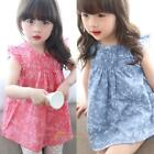 Kids Baby Girls Summer Beach Floral Dress Princess Party Pageant Tutu Dresses