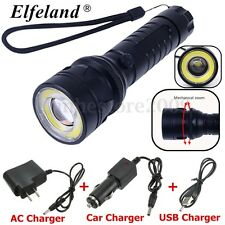 Elfeland 15000Lm T6 + COB LED Flashlight Torch Light Super Bright & Charger SET