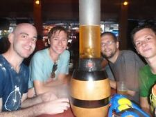 Beer Tower Beverage Dispenser Handcrafted Painted Solid Wood Base
