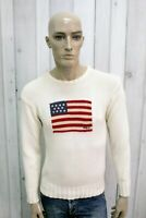RALPH LAUREN Uomo Taglia M Maglione Lana Sweater Pullover Maglietta Maglia Man