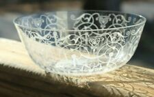 RARE VINTAGE 8 Finger Bowls BACCARAT Delicate Etched Glass MICHELANGELO