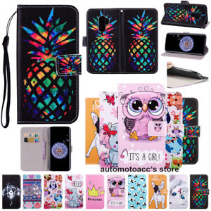 For Samsung Galaxy S5-S8/J3-J5/A3 A5 2018 Leather Wallet Stand Phone Case Cover