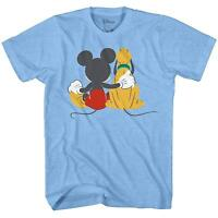 Disneyland World Mickey Pluto Best Funny Friends Adult Men's Graphic T-Shirt Tee