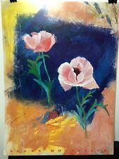 FINE ART LITHOGRAPH: Poppies by Susan Hostetler 24 x 32