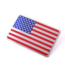 5*8cm 3D US American Flag Car Sticker Badge Emblem Adhesive Aluminium Rectangle