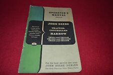 John Deere Tractor Controled Harrow Operator's Manual GDSD6