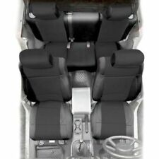 Jeep Wrangler JK Front and Rear Neoprene Seat Covers Black 13-17 4 Door 471601
