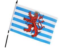 Fahne Flagge Luxembourg Löwe 15 x 23 cm mit Plastikstab (2er Set) (0140107)