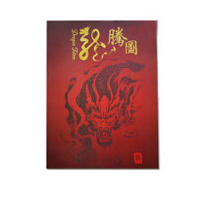 Tattoo Flash Book Dragon Ghost Skull Flower Japanese Style Outline Sketch Book