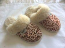 Ugg slippers, size 3, leopard skin print, scuffette ll sheepskin