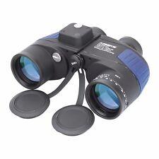 10X50 Military Marine Binoculars BAK4 Prism Waterproof With Rangefinder Compass