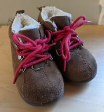 Baby Gap Boots Sz 5 Infant Brown Suede GENUINE Leather High Top EUC Boys Girls