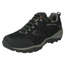 Mens Black Lace Up Gore-Tex Merrell Trainers : Rival Silverton J584783