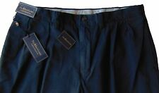 Men's POLO RALPH LAUREN Navy Blue Pleated Chino Cotton Pants 52x32 52Bx32 NWT