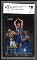 1998-99 Stadium Club Prime Rookies #P9 Dirk Nowitzki Rookie BGS BCCG 10 Mint+