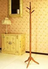 Frenchi Furniture Wood Coat/Hat Rack Stand in Oak Finish , New, Free Shipping