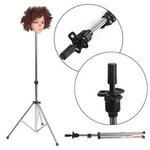 Adjustable Training Mannequin Head Tripod Stand Manikin Wig Holder + Carry Bag