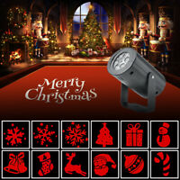 Christmas LED Outdoor Moving 12 Patterns Laser Light Projector Lamp Party Decor