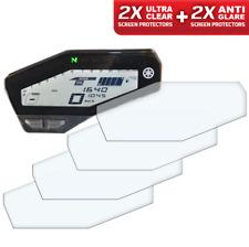 4 x Yamaha MT-09/FZ-09 Tacho Displayschutzfolie 2 x Entspiegelt & 2 x Ultra-Klar