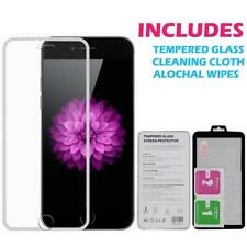 Tempered Genuine Glass Screen Protector Edge to Edge Silver for iPhone 6S / 6