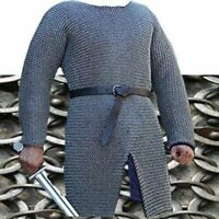 MEDIEVAL CHAINMAIL SHIRT ROUND RIVETED WITH WASHER CHAIN MAIL ARMOR COSTUME XL