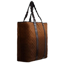 Gucci Men's Leather Trimmed GG Print Large Tote Shoulder Bag Handbag