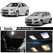 8x White Interior LED Light Package Kit for 2012-2017 Chevy Sonic
