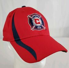 Chicago Fire SC Team Structured Hat MLS Adidas Climalite Fitted Hat L/XL Soccer