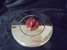 VINTAGE Signature T-FAL Lid Open/Close Red Metal Slide Steam Excape 5.5 u Round