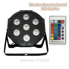 Wireless remote control  2017 7x9W RGB DMX  Led Flat Par High Power Light with P