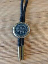 Bolo Tie 1983 Calgary Stampede Chuckwagon Races Coin Bullet Tip