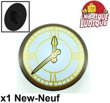 Lego - 1x shield blouclier Clock horloge heure noir/black 75902pb11 10259 NEUF