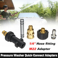"""Pressure Washer Extension Lance Wand 1/4"""" M22 Quick Connect Adapter Hose Gun Fit"""