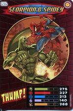 Spiderman Heroes And Villains Card #156 Scorpion & Spidey