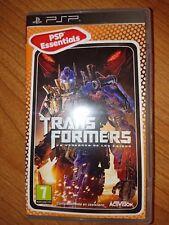 TRANSFORMERS para Sony PSP PlayStation Portable, nuevo aunque sin precintar