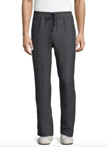 James Perse Delave Dark Grey Drawstring Linen Pants Men's Size 1 83006