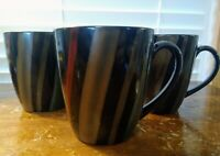 "Set Of Three Vintage Sango Avanti Coffee Mugs 4"" Tall  #4721 Excellent Condition"