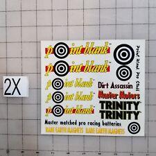 TRINITY MASTER MOTORS - POINT BLANK- Decal Sticker SHEET 1/12 -1/10 NEW